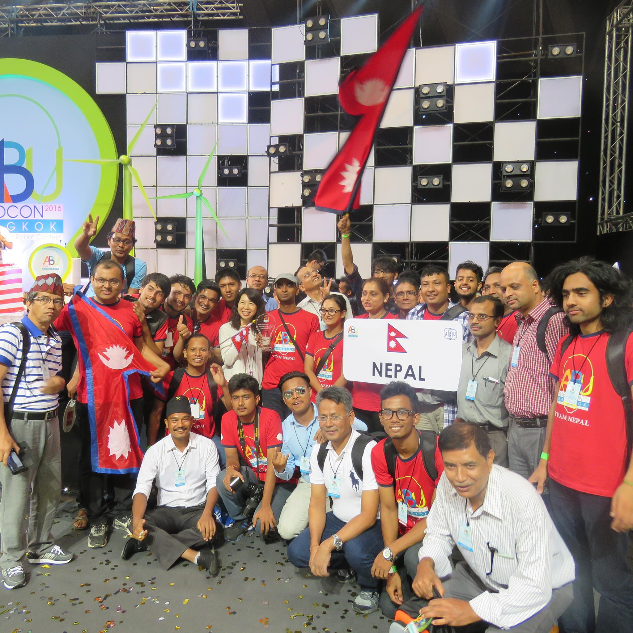Team Nepal bags two awards in ABU Robocon 2016