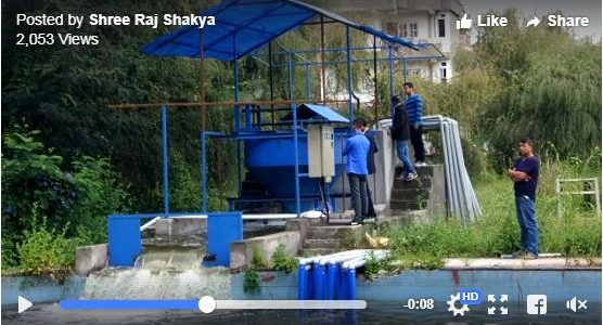 Successful test of Ultra Low Head (Gravitational Water Vortex Turbine) micro-hydro power plant for the first time in Nepal