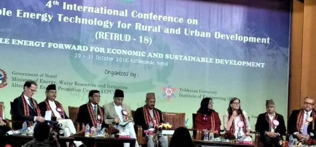 The 4th International Conference on Renewable Energy Technology for Rural and Urban Development (RETRUD-18) Conducted in Kathmandu